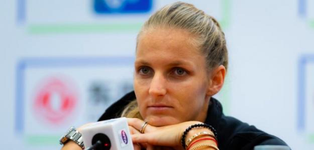 Karolina Pliskova durante la gira asiática. Fuente: WTA