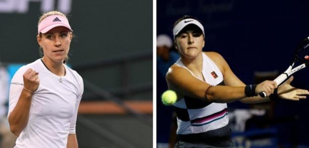 Angelique Kerber y Bianca Andreescu. Foto: Sport 365