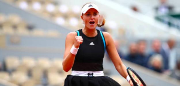 Kristina Mladenovic reinó en París. Fuente: Getty