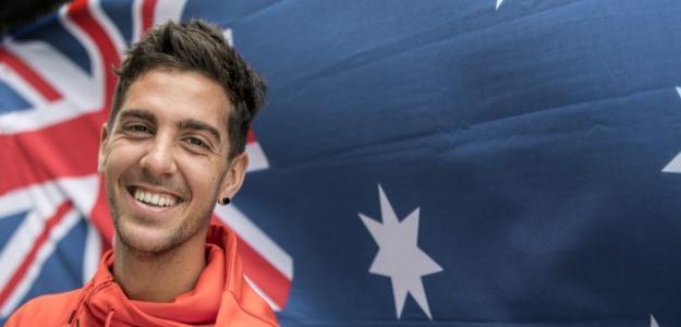 La sonrisa de Thanasi Kokkinakis. Fuente. Tennis Australia