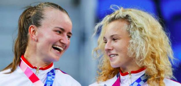 Barbora Krejcikova y Katerina Siniakova, campeonas olímpicas. Fuente: Getty