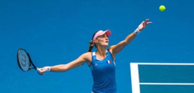 Kristina Mladenovic, heroína de la Fed Cup 2019. Foto: gettyimages