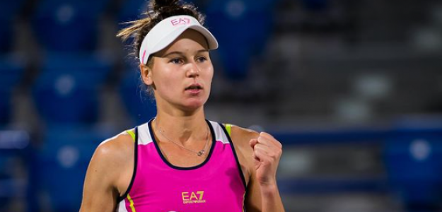 Veronika Kudermetova celebra en Abu Dhabi. Fuente: Getty