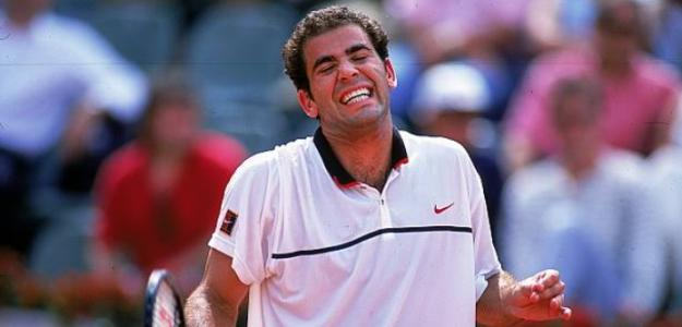 Pete Sampras lamentándose en Roland Garros. Foto: Getty Images