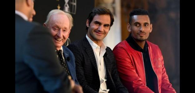 Laver Cup 2018, Roger Federer y Nick Kyrgios. Foto: zimbio