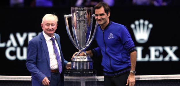 Rod Laver habla sobre Federer. Foto: Getty