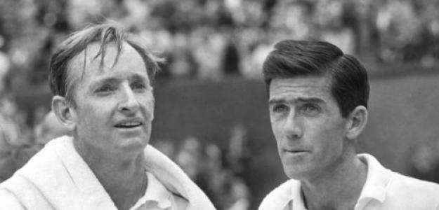 Rod Laver y Ken Rosewall, finalistas aquel año. Fuente: Getty