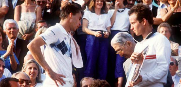 Ivan Lendl y John McEnroe en Roland Garros 1984. Fuente: Getty