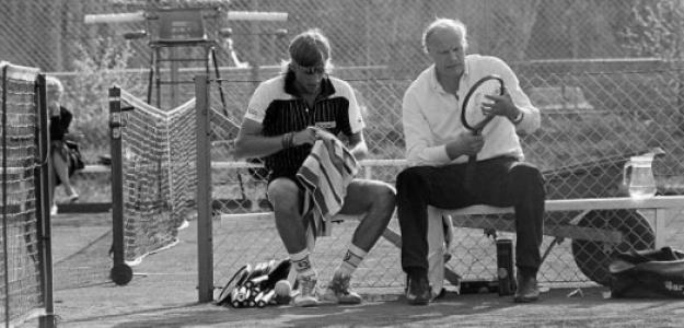 Björn Borg junto a su entrenador, Lennart Bergelin. Fuente: Getty