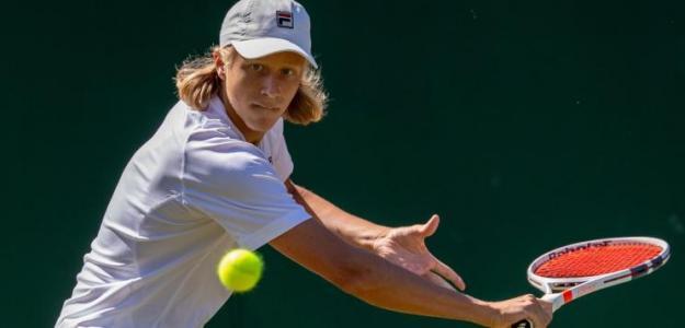 No pudo ser para el hijo de Bjorn Borg que cayó en la previa del junior de Wimbledon. Foto: Wimbledon