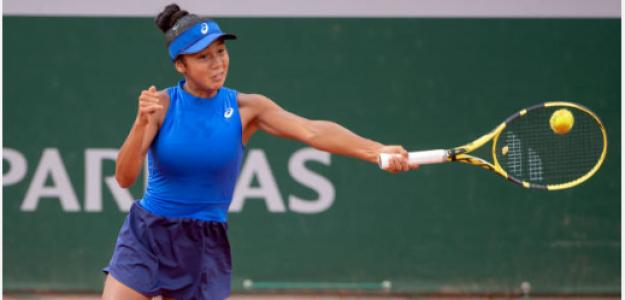 Leylah Annie Fernández en Roland Garros Junior 2019. Foto: gettyimages