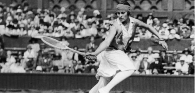 Lilí Álvarez, torneo raquetas madera en Madrid. Foto: gettyimages