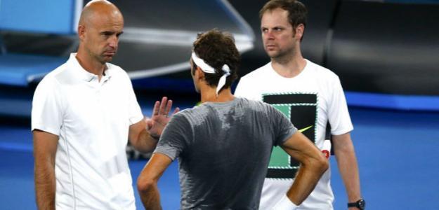Ivan Ljubicic junto a Federer y Luthi. Foto: Getty