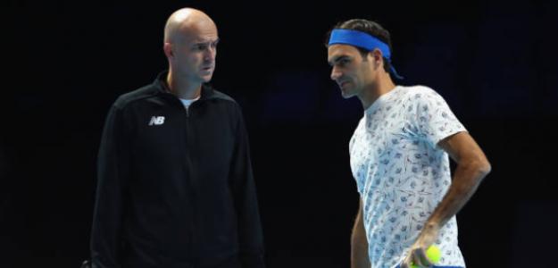 Ljubicic y Federer. Foto: Getty