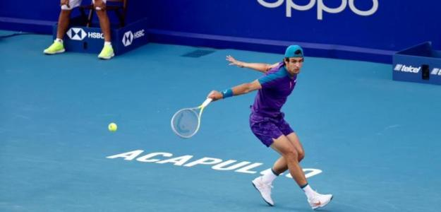 Lorenzo Musetti, victoria a Diego Schwartzman en ATP Acapulco 2021. Foto: Abierto Mexicano