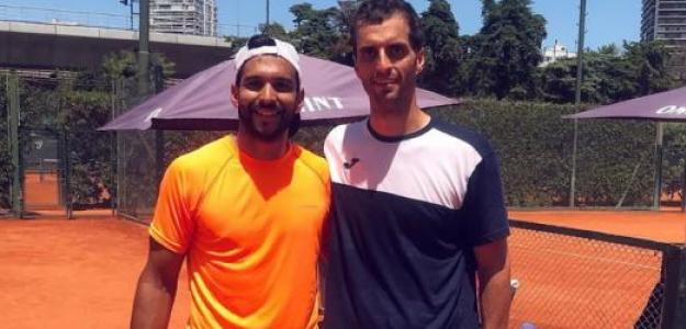 Doria compartió un entrenamiento con el español Albert Ramos. Foto: Argentina Open