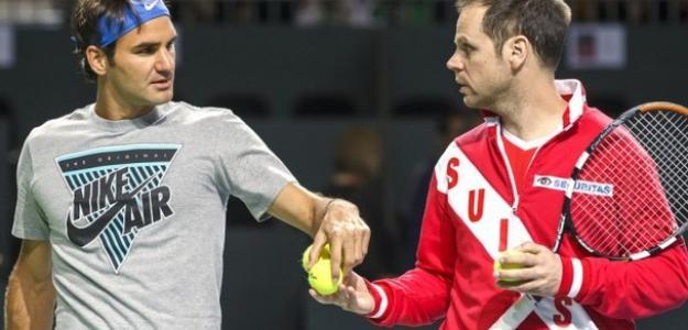 Roger Federer y Severin Luthi. Foto: gettyimages
