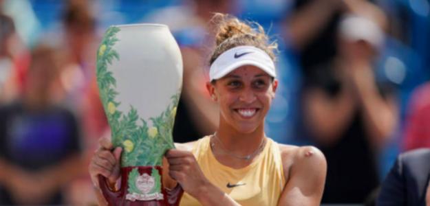 Madison Keys llegará al US Open con un jarrón bajo el brazo. Fuente: Getty