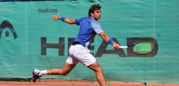 Malek Jaziri disputando el Challenger de Alicante. Fuente: Academia Equelite