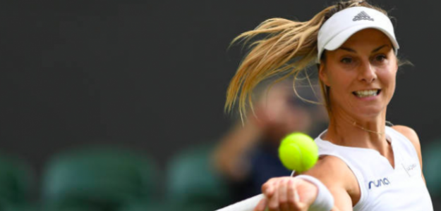 Mandy Minella en Wimbledon. Fuente: Getty
