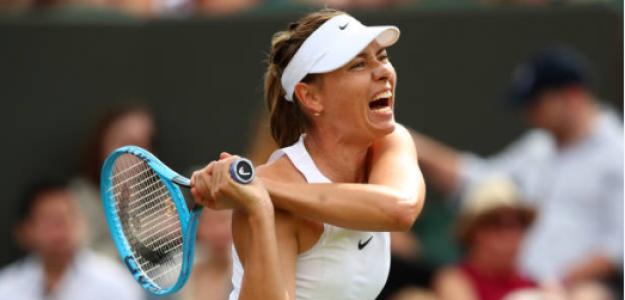Maria Sharapova en Wimbledon 2019. Foto: gettyimages