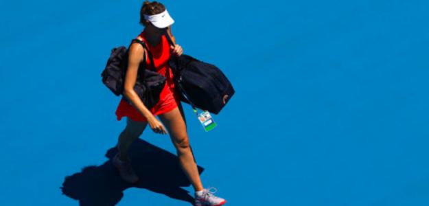 Sharapova estaba muy decepcionada con la derrota. Foto: Getty