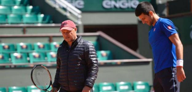 Marian Vajda y Novak Djokovic. Foto: Getty