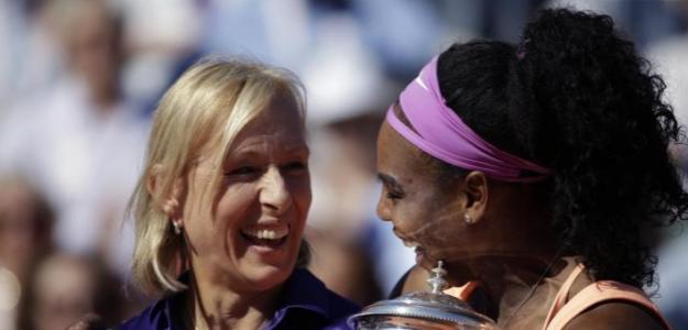 Martina Navratilova y Serena Williams. Foto: zimbio