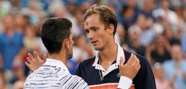 Medvedev bajó a Djokovic en las semifinales de la edición 2019. Foto: Getty