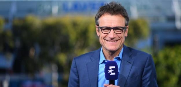 Wilander con el mircófono de Eurosport.