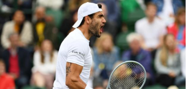 Matteo Berrettini, candidato título Wimbledon 2021. Foto: gettyimages