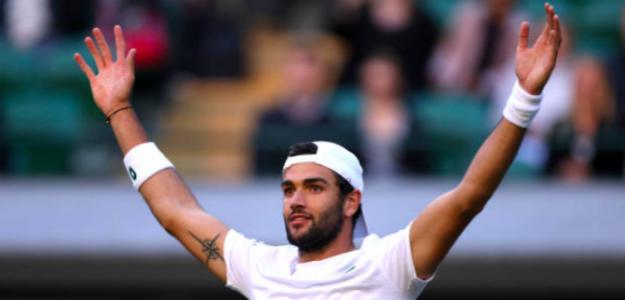 Matteo Berrettini busca la gloria en Wimbledon. Fuente: Getty