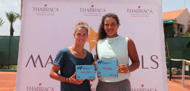 Mayar Sherif, con el título de campeona en el ITF de Tabarka.