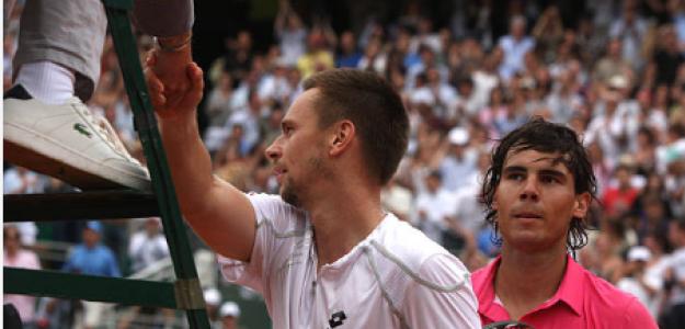 Robin Soderling, tras derrotar a Nadal en Roland Garros 2009. Fuente: Getty