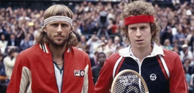 John McEnroe y Björn Borg, minutos antes de su final en Wimbledon 1980. Foto: SI