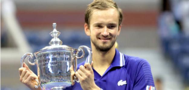 Medvedev, con el título de campeón del US Open. Fuente: Getty