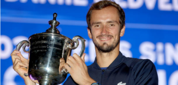 Medvedev, con el título de campeón. Fuente: Getty