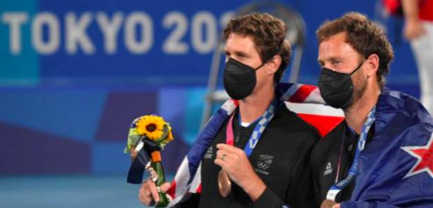 Marcus Daniell y Michael Venus, bronce olímpico en Tokio 2020. Fuente: Getty