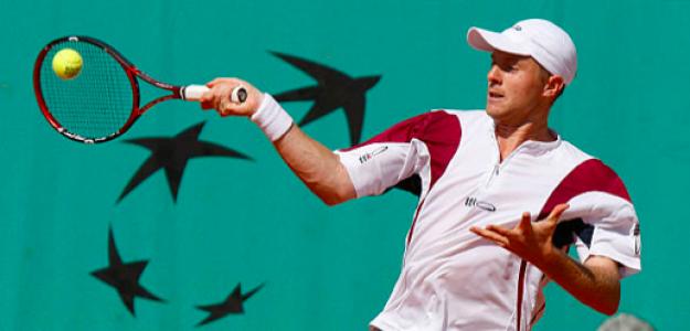Miguel Ángel López disputando Roland Garros 2008. Fuente: Getty