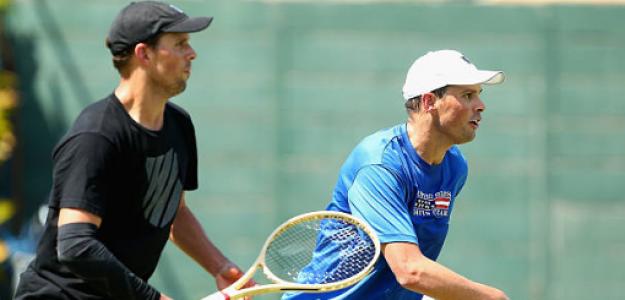 Mike Bryan y Bob Bryan en Copa Davis 2020. Foto: gettyimages
