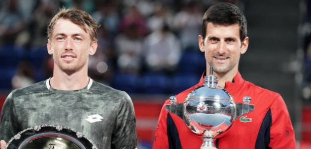 John Millman y Novak Djokovic, mensajes. Foto: gettyimages