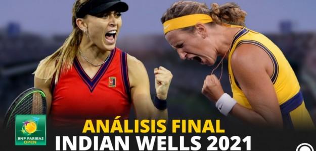 Indian Wells 2021: Análisis de la final femenina, Badosa-Azarenka. Foto: PdB