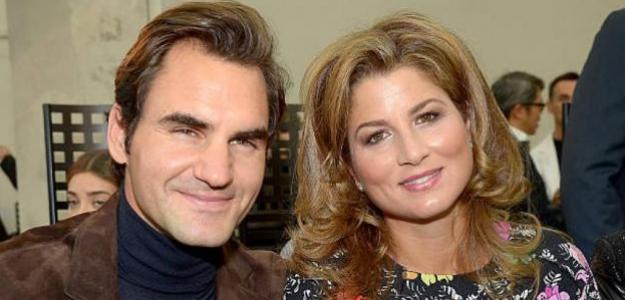 Federer se deshace en elogios hacia su esposa, Mirka. Foto: Getty