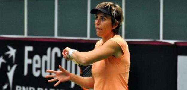 María José Martínez durante un entrenamiento en Ostrava