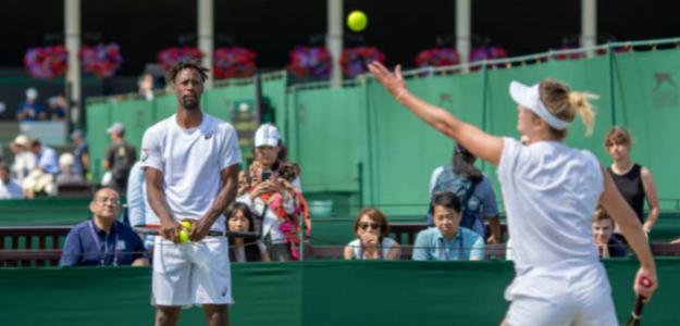Monfils y Svitolina entrenan en Wimbledon. Fuente: Getty