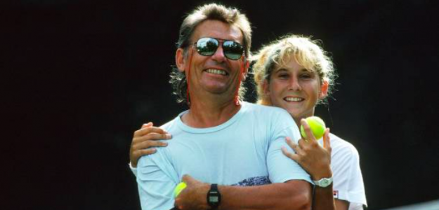 Monica Seles junto a su padre Karolj. Fuente: Getty