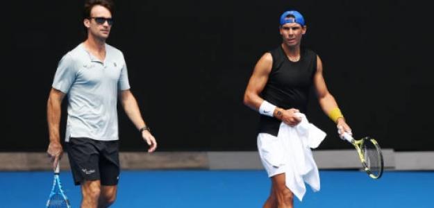 Carlos Moyà junto a Rafael Nadal. Foto: Getty Images
