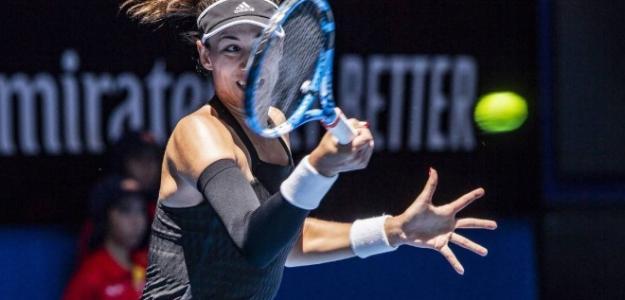 Garbiñe Muguruza arranca con buen pie su presencia en el Open de Australia 2019.