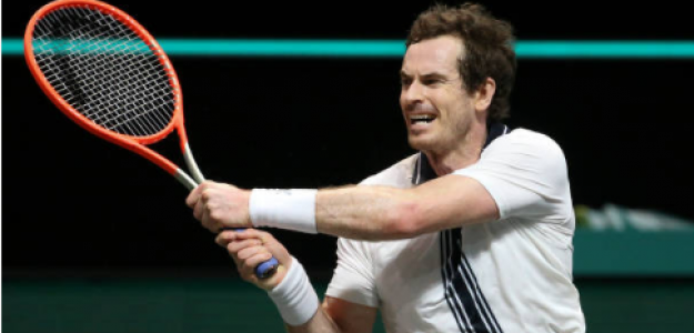 Andy Murray durante el torneo de Rotterdam. Fuente: Getty