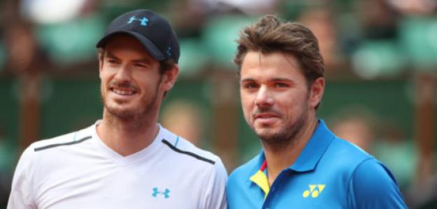 Andy Murray y Wawrinka en aquella semifinal de Roland Garros 2017. Fuente: Getty